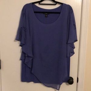 Purple blouse with soft tank lining